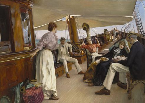 On the Yacht Namouna, Venice 1890, by Julius LeBlanc Stewart