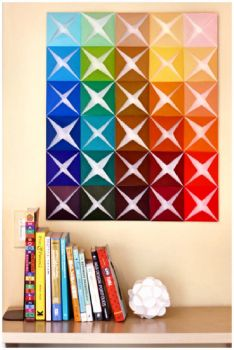 Folded Paper Wall Hanging