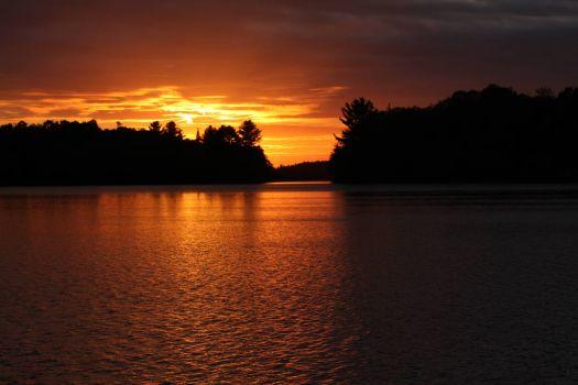 northern lake sunset
