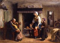 Jules Breton--A Party for Grandfather, 1864