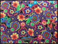 Laurel Burch flower pattern
