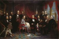 Christian Schussele—Washington Irving and his Literary Friends at Sunnyside, 1864