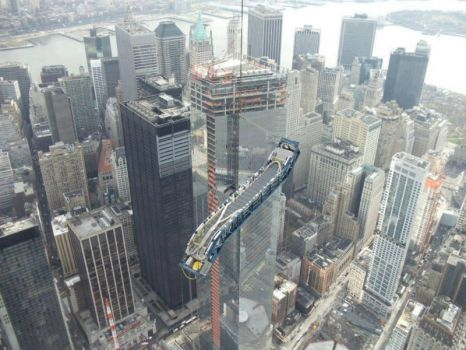 Escalator of the new World Trade Center - not sure if real...