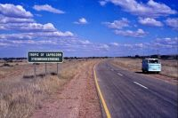 Crossing the Tropic of Capricorn in Namibia - 1974