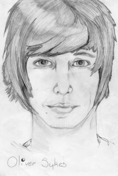 another of my daughters drawings.....olly sykes....bmth