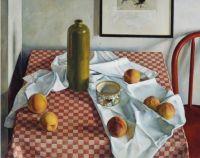 Luigi Lucioni (Italian/American, 1900–1988), Red Checkered Tablecloth (1927)