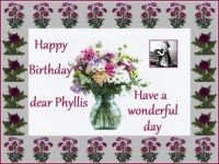 Happy Birthday dear Phyllis (Cilycoed)