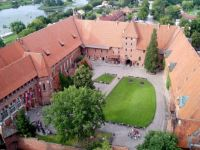 Malbork castle, the courtyard