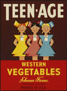 Teen Age Western Vegetables label