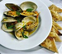 Clams with Saffron and Tomato Concasse
