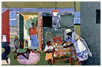Before Dawn (mural, 1989) ~ Romare Bearden