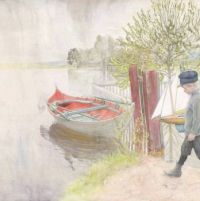 "Carl Larsson, ""Esbjörn with his sailboat"""