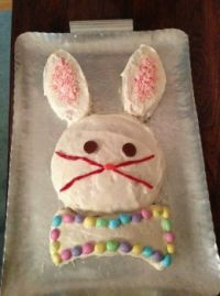 Easter Wabbit Cake 3-31-13photo