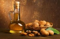 Walnuts, Flask and Oil