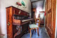 Piano in an old house