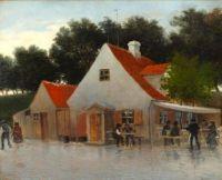 Unknown Danish painter, Tavern Scene (ca 1900 )