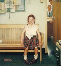 Norman Rockwell - Girl with a Black Eye