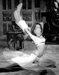 This veiled dancer is none other than Diana Rigg in the 1966 episode    Honey for the Prince    of The Avengers television serie