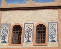 Beautiful Wall in Marrakech, Morocco