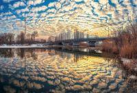 Закат на реке Усманке, Воронежская область.