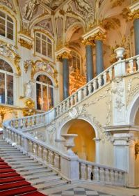 Beautiful staircase in winter palace