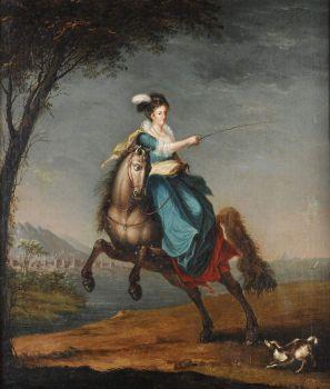 Queen Carlota Joaquina equestrian portrait