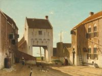 Jan Weissenbruch--The Leerdam Gate, ca. 1840-1870
