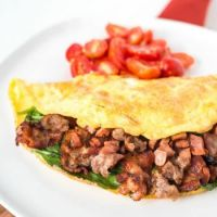 Bacon and Spinach Omelet