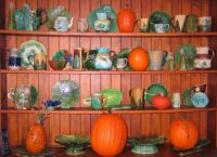 majolica and pumpkins