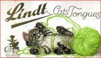 Themes Vintage ads - Lindt Cats Tongues