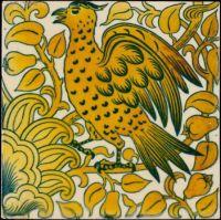 Lustre Tile with Bird Design, William Frend de Morgan, c. 1880