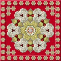 TILE 4392 . . . (smaller) Strawberries and cream with a few biscuits . . . :-)