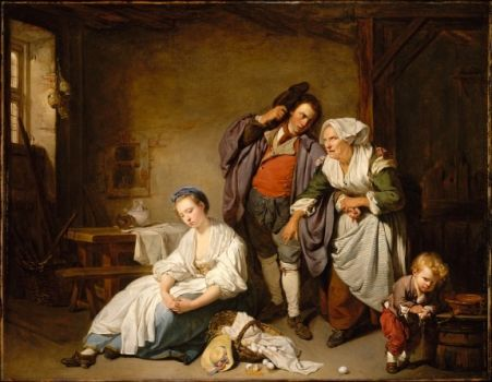 BROKEN EGGS, a kitchen scene from 1756