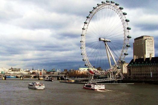 The Eye along the River Thames in London