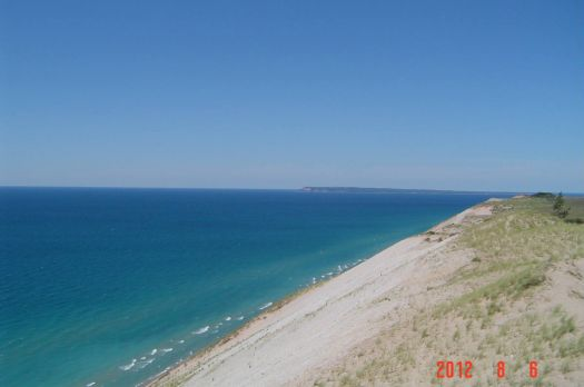 Sleeping Bear Dunes and Lake Michigan