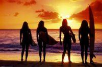 Best Friends Surfing