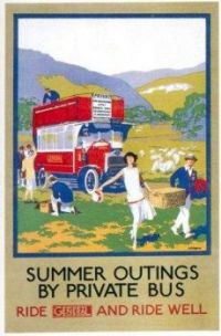 vintage london underground poster summer outings p
