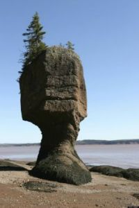 Bay of Fundy in Nova Scotia and New Brunswick - 16 metres range for tide levels