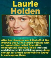 14 Famous Actors Who Have Straight-Up Saved A Life - Laurie Holden