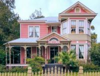 Pretty pink Victorian home