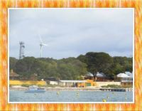 Our Trip. Our First View of Rottnest Island. Smaller.