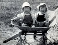 Me and my sister 1940!!