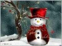 Red Velvet Snowman