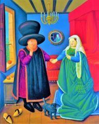 The Arnolfini Portrait a la Botero