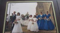 Wonky wedding photo!