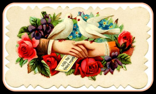 Pinknblack from the Past- Antique Calling Card