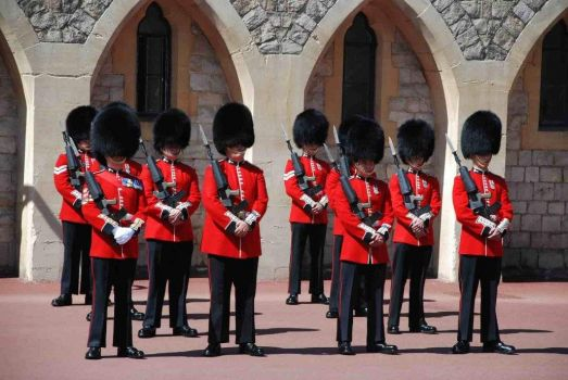 Changing of the guards, Buckingham Palace, London