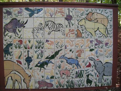 Mural at the zoo