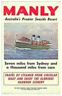 Vintage travel ad - Manly