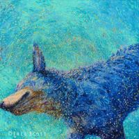 "Iris Scott - ""Shakin' Blue Heeler"""